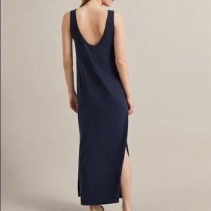 Massimo Dutti - Navy Cupro Dress - Size SM